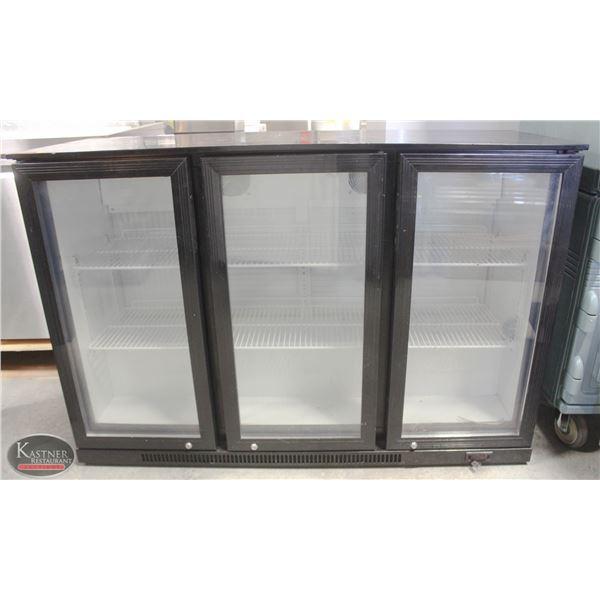 K15 BAILIFF SEIZURE: 3 GLASS DOOR UNDER COUNTER