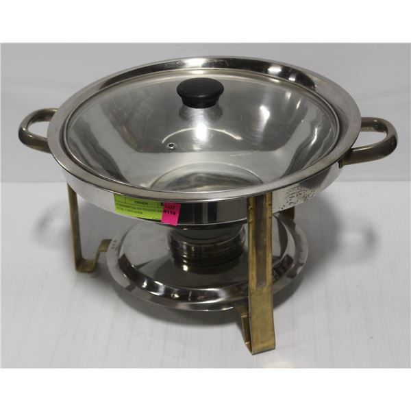 COMMERCIAL S/S CHAFING DISH W/ FUEL CONTAINER