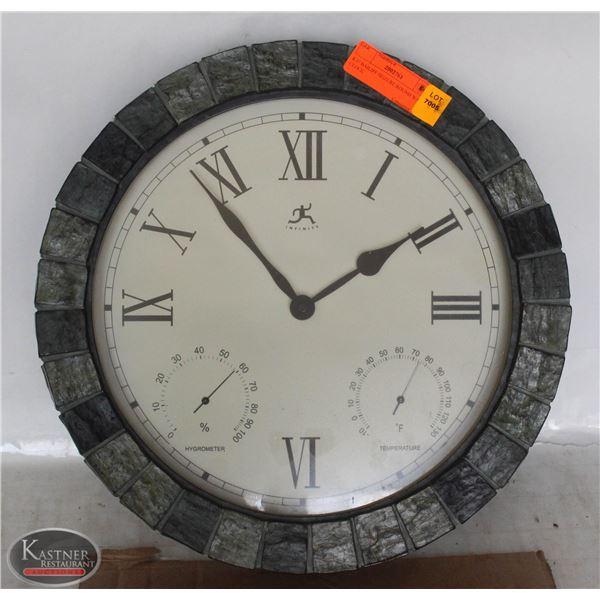 K37 BAILIFF SEIZURE:ROUND WALL CLOCK