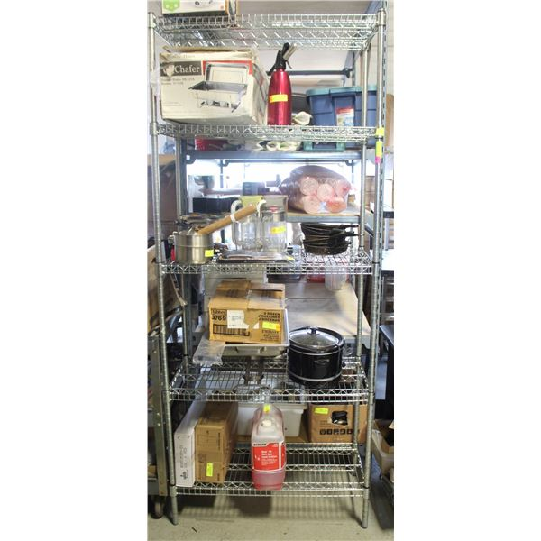 3' HD COMMERCIAL CHROME WIRE STORAGE RACK-5 TIER