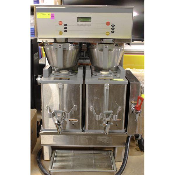 BUNN S/S DUAL COFFEE BREWER W/ HOT WATER TAP