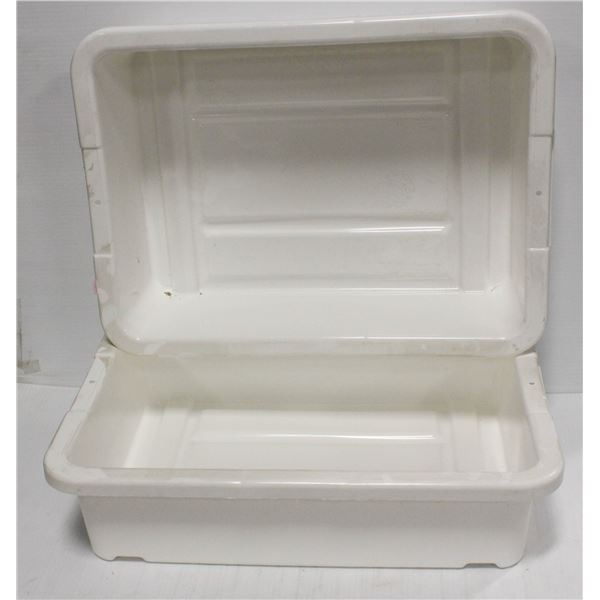 """LOT OF TWO 5"""" DEEP WHITE TOTES"""