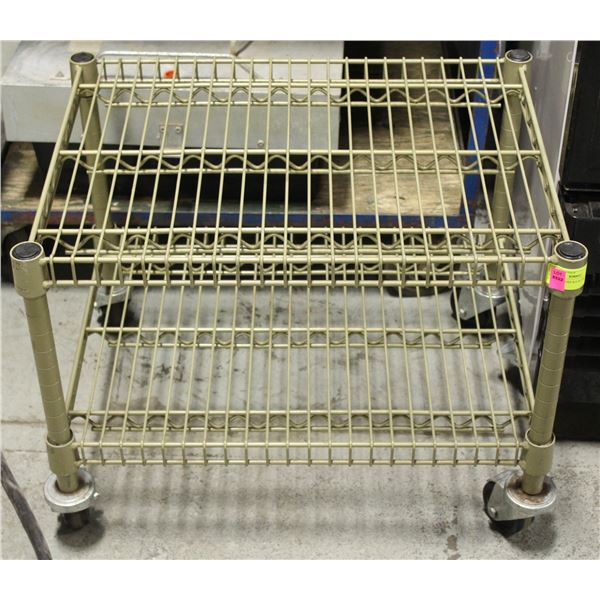 2' MOBILE WIRE RACK ON CASTERS - 2 TIER