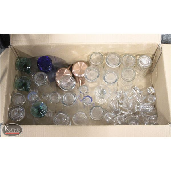 K13 BAILIFF SEIZURE: DISHRACK OF ASSORTED GLASS