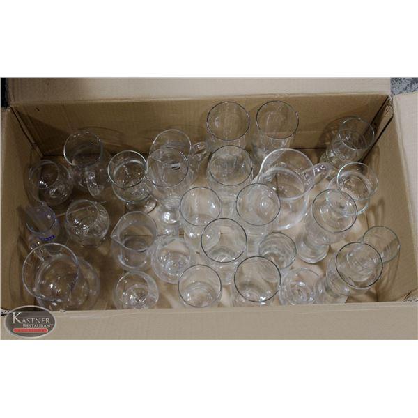 K13 BAILIFF SEIZURE:TRAY OF ASSORTED GLASSES