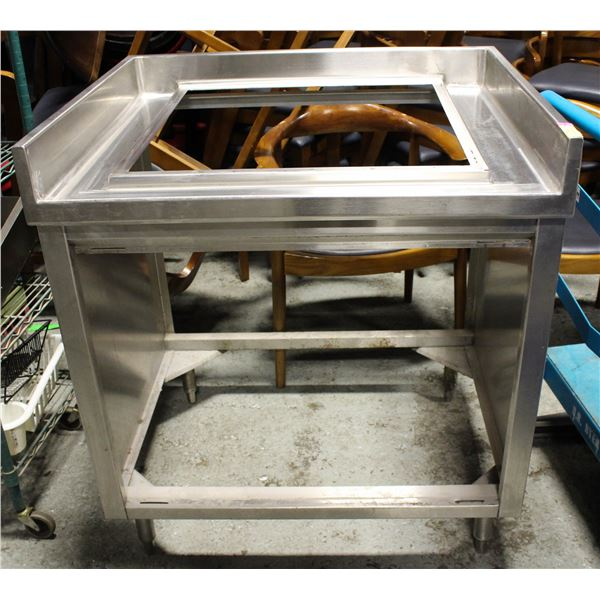 S/S TABLE FRAME FOR DROP-IN FOUNTAIN DRINK MACHINE