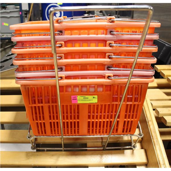LOT OF 6 SHOPPING BASKETS