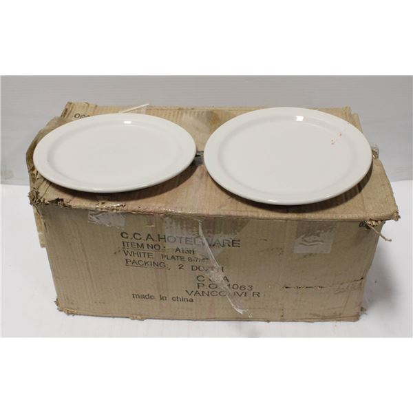 BOX OF 24 ASSORTED PLATES