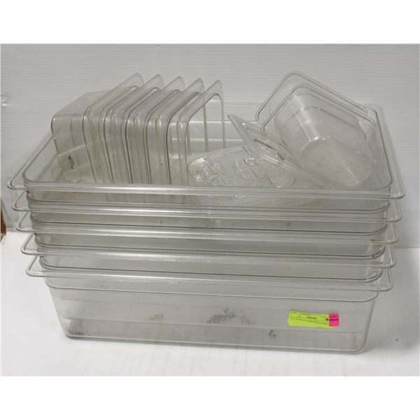 LOT OF POLYCARBONATE INSERTS