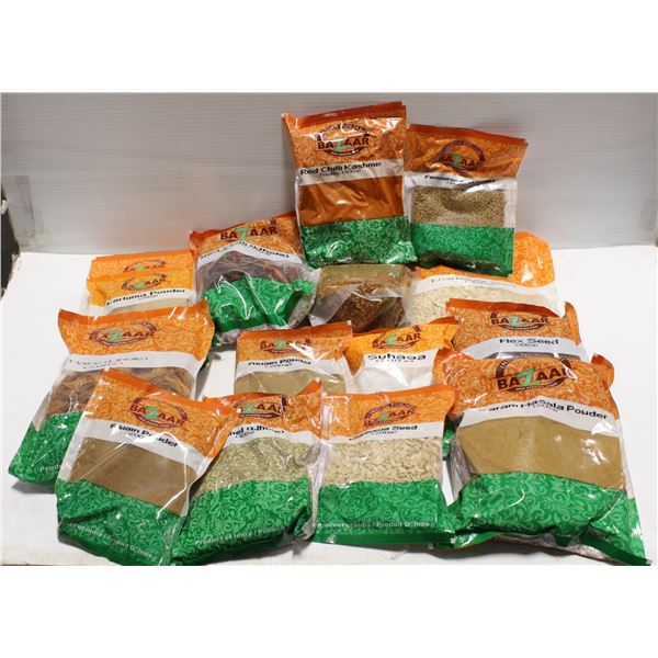 FLAT OF 15 PACKS OF ASSORTED SPICES