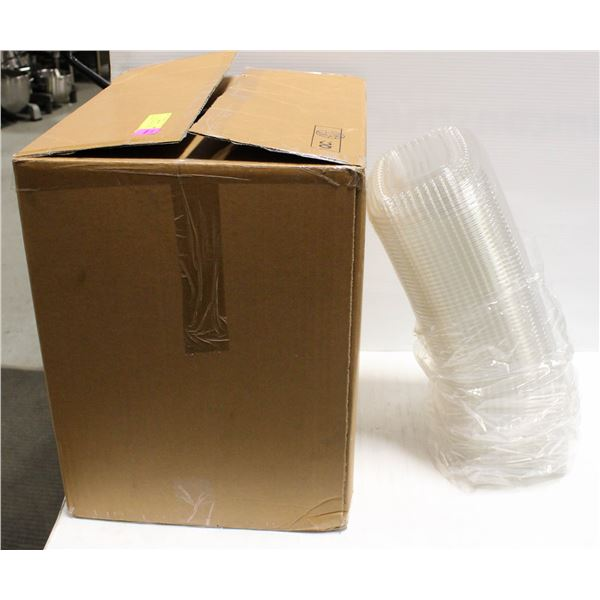 BOX OF 300 TAKE OUT PLASTIC LIDS-SMALL
