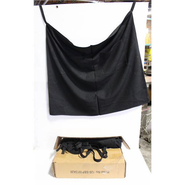 BOX OF 9 BLACK APRONS