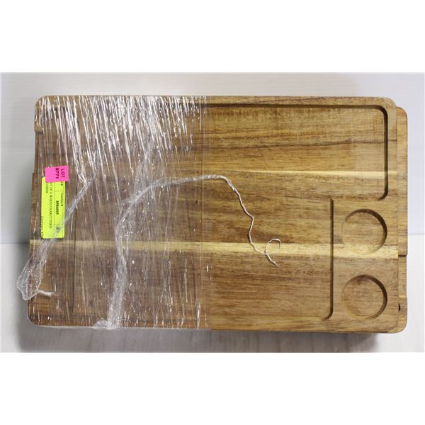 LOT OF 6 WOOD CHARCUTERIE BOARDS