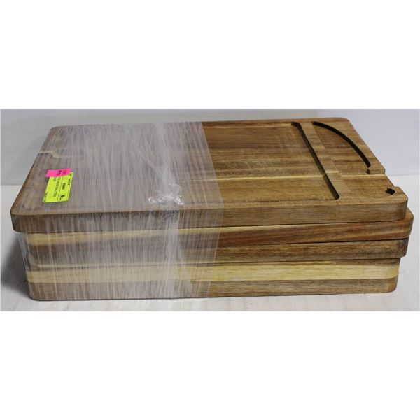 LOT OF 5 WOOD CHARCUTERIE BOARDS
