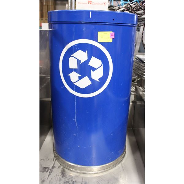 """18"""" THREE-PARTITION RECYCLE BIN / CYLINDER"""