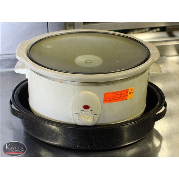 K25 BAILIFF SEIZURE:OVAL SLOW COOKER&ROASTING PAN