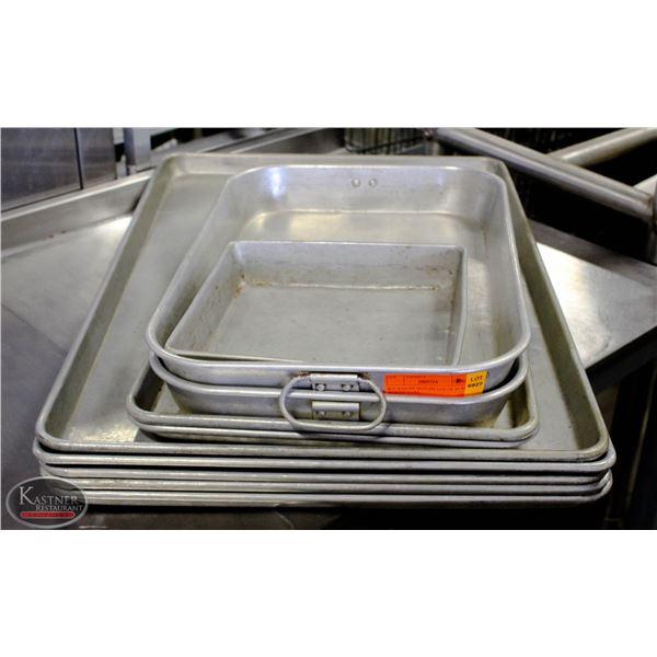 K25 BAILIFF SEIZURE:LOT OF 10 ALUMINUM BAKING PANS