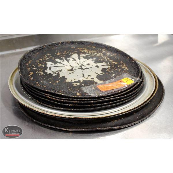 K25 BAILIFF SEIZURE:LOT OF 9 ALUMINUM PIZZA PANS