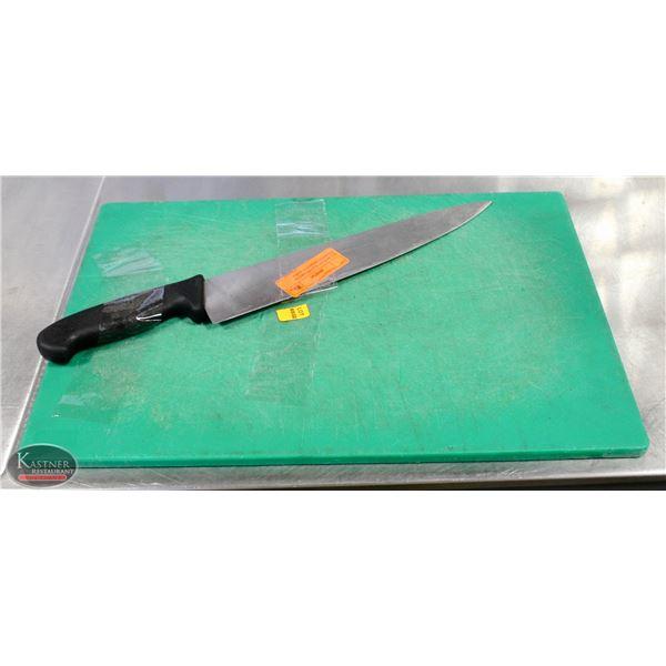 K25 BAILIFF SEIZURE:GREEN CHOPPING BOARD W/ KNIFE