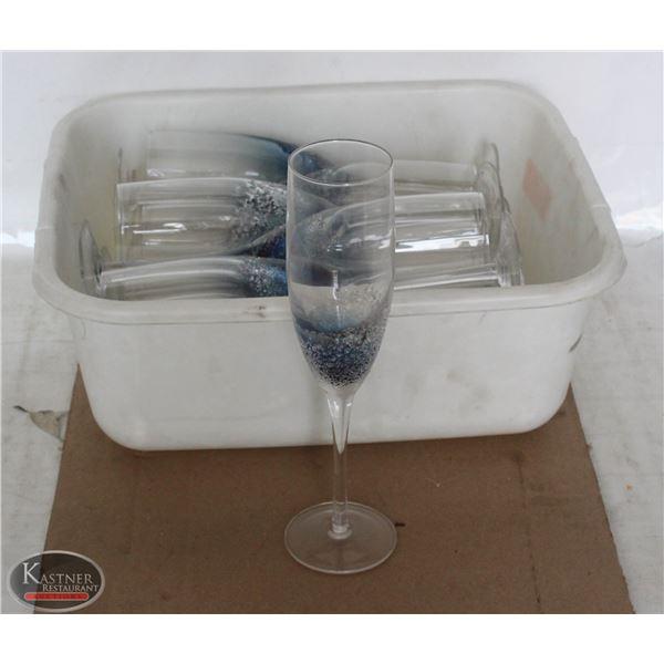 K13 BAILIFF SEIZURE:LOT OF 15 CHAMPAGNE GLASSES