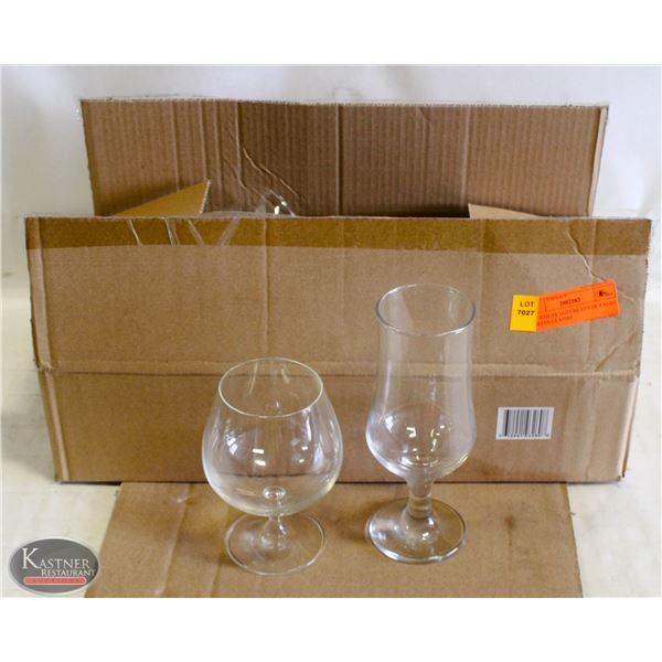 K13 BAILIFF SEIZURE:LOT OF 9 ASSO. SNIFFER GLASSES