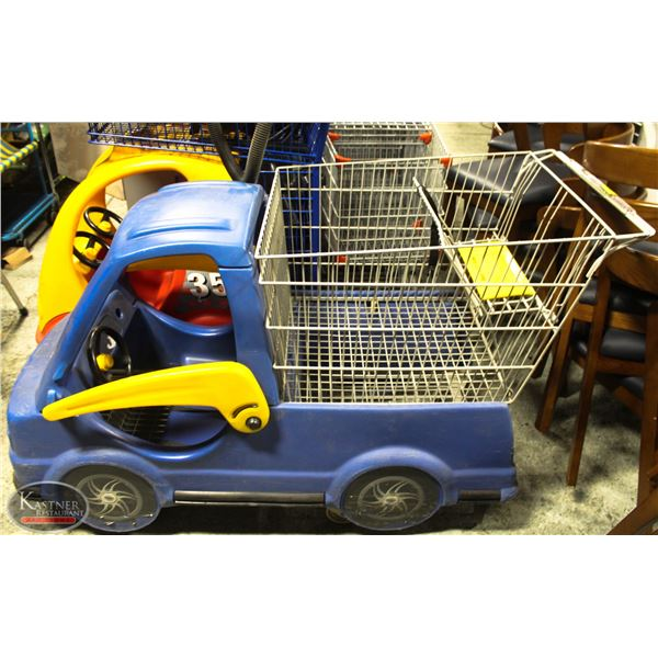 GROCCERY SHOPPING CART WITH KIDS CAR