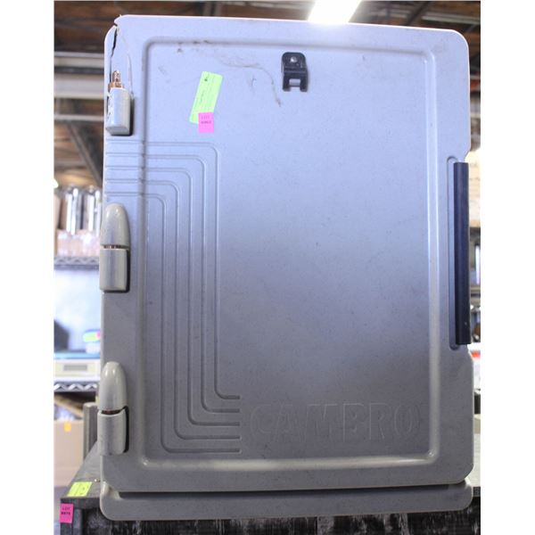 CAMBRO INSULATED FOOD CARRIER W/ 1 DAMAGED HINGE