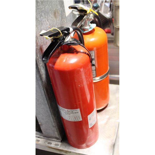 2 FIRE EXTINGUSHERS ABC *FULLY CHARGED*