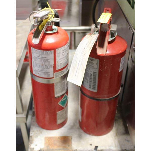 LOT OF 2 FIRE EXTINGUSHER CLASS ABC 10 LB