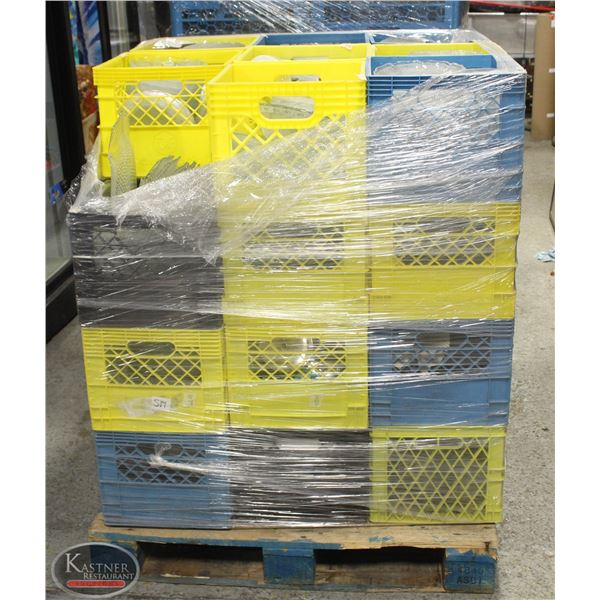 PALLET OF SERVING DISHWARE APPRO. 35 CRATES