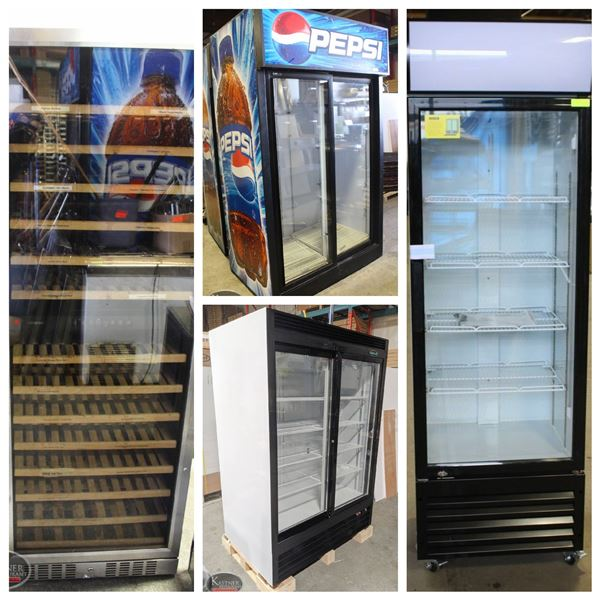 FEATURED LOTS: COMMERCIAL UPRIGHT COOLERS
