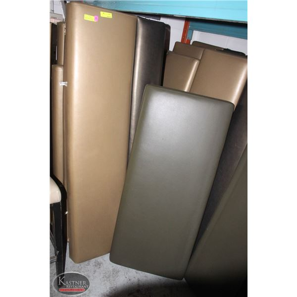 LARGE LOT (24PCS.) OF VINYL BENCH / BOOTH SEATING
