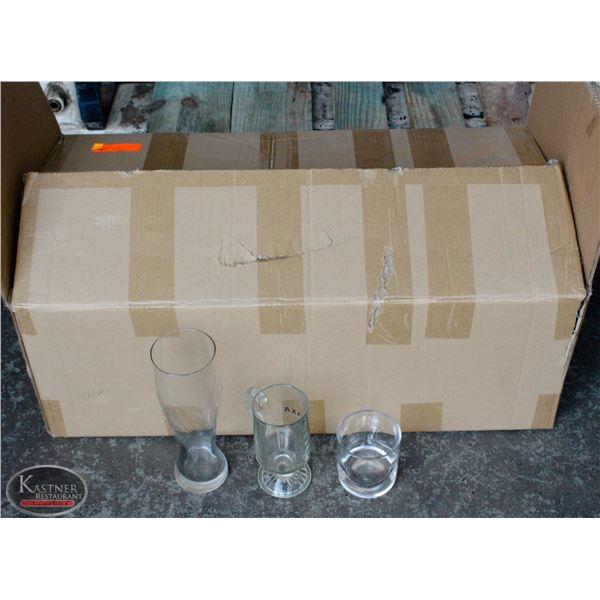 K13 BAILIFF SEIZURE:LOT OF 28  ASSO. GLASSWARE