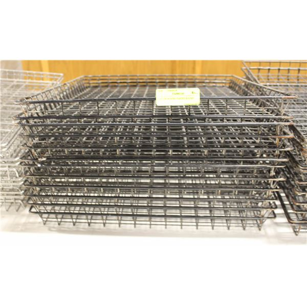 LOT OF 12 WIRE PASTRY RACKS