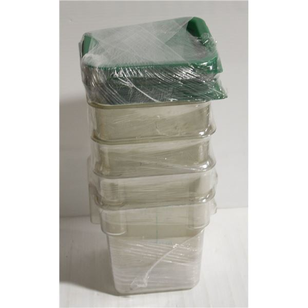 LOT OF 4 - 4QT CAMBRO CAMSQUARE WITH LIDS