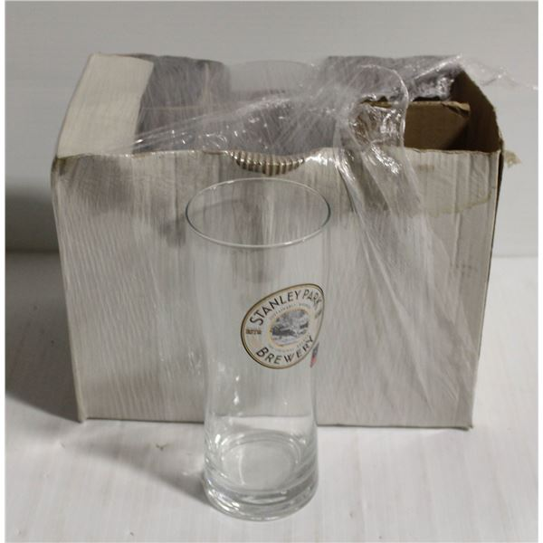 BOX OF 6 STANLEY PARK BREWING COMPANY GLASSES