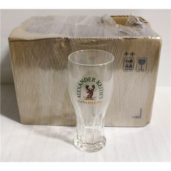 BOX OF 6 ALEXANDER KEITH'S IPA 20 OZ GLASS