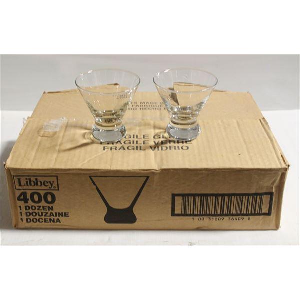 THREE CASE COSMOPOLITAN COCKTAIL GLASSES