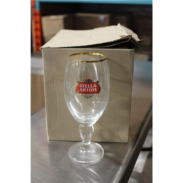 BOX OF 6 STELLA ARTOIS 33CL BEER GLASSES