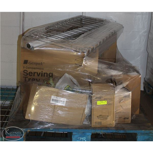PALLET OF DISPOSIBLE FOOD CONTAINERS