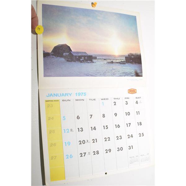 1975 Sask Wheat Pool calendar