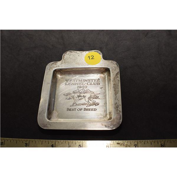Sterling Silver 1948 Kennel Club tray Stamped Gorham