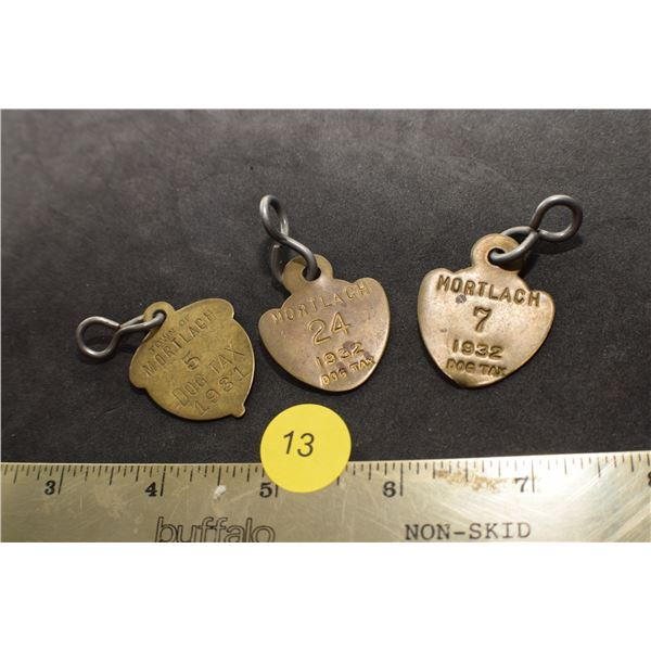 1931 and 1932 Mortlach dog tags