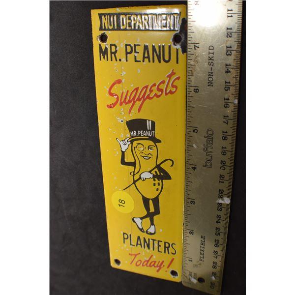 Mr. Peanut Fantasy Porcelain door push sign