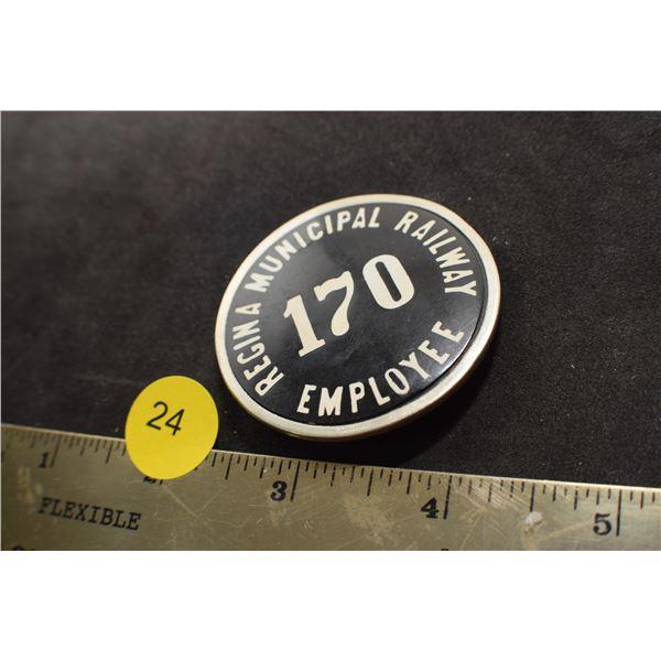 Regina antique Streetcar Badge