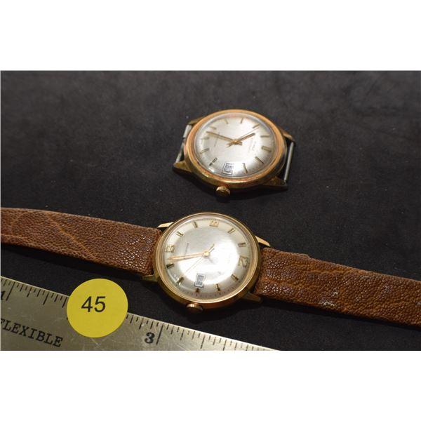 2 Vintage Timex Watches - 1 runs