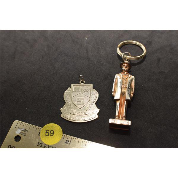 Safety Patrol FOB and Jack Daniels key chain