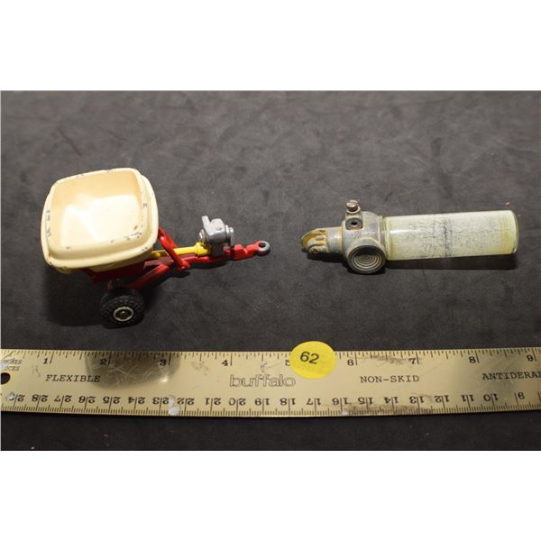 Vintage car pin stripe painter and toy