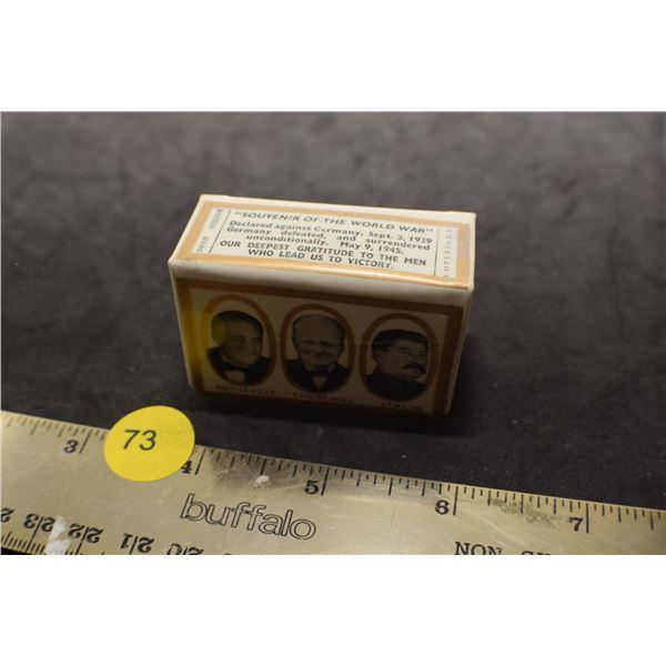 Antique matchbox holder  WW 2 mint