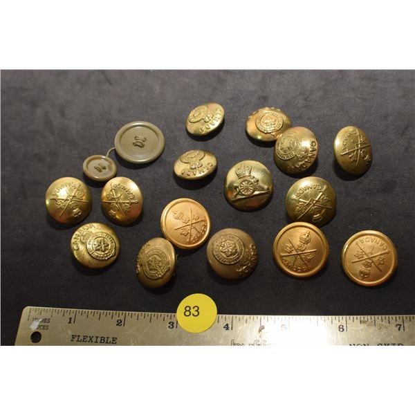Canada Military button lot